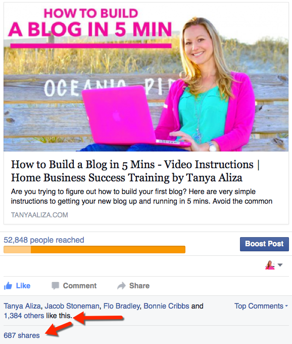 How to get more likes on Facebook Post example