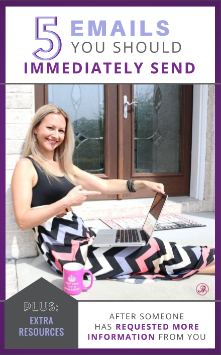 Tanya's 5 Emails You Should Immediately Send