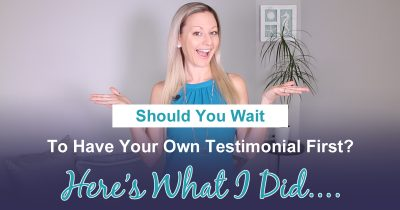 Network Marketing Training - Should You Wait To Have Your Own Testimonial Before Building Your Business?