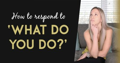 Network Marketing Training - How To Respond When Someone Asks 'What Do You Do' And You're In Network Marketing