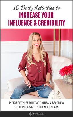 My 10 Daily Activities To Help You Increase Your Influence And Credibility - freebie